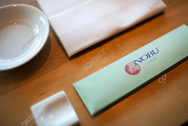 Preparations before opening for the day at Nobu London, sushi restaurant of chef Nobu Matsuhisa. London, England, June 3, 2009