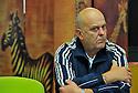 11/10/12 - THIERS - PUY DE DOME - FRANCE - Bernard DOUPEUX, ancien salarie de PRECITURN dans les locaux de l association de reinsertion professionnelle PASSERELLE - Photo Jerome CHABANNE pour Le Monde