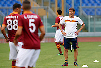 "Calcio: allenamento a porte aperte ""Open Day"" per la presentazione della Roma, a Roma, stadio Olimpico, 21 agosto 2013.<br /> AS Roma coach Rudi Garcia, of France, attends the Open Day training session at Rome's Olympic stadium, 21 August 2013.<br /> UPDATE IMAGES PRESS/Riccardo De Luca"