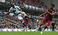 Blackburn Rovers' Ryan Nyambe and Aston Villa's Neil Taylor<br /> <br /> Photographer Rachel Holborn/CameraSport<br /> <br /> The EFL Sky Bet Championship - Blackburn Rovers v Aston Villa - Saturday 15th September 2018 - Ewood Park - Blackburn<br /> <br /> World Copyright &copy; 2018 CameraSport. All rights reserved. 43 Linden Ave. Countesthorpe. Leicester. England. LE8 5PG - Tel: +44 (0) 116 277 4147 - admin@camerasport.com - www.camerasport.com