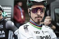 World Champion Peter Sagan (SVK/Bora Hansgrohe) pre race<br /> <br /> <br /> 105th Scheldeprijs 2017 (1.HC)<br /> 1day race: Mol > Schoten 200km