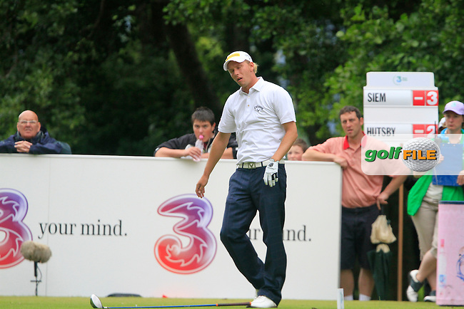 Marcel Siem not happy after he tees off on the 5th hole during the Final Day of the 3 Irish Open at the Killarney Golf & Fishing Club, 1st August 2010..(Picture Eoin Clarke/www.golffile.ie)