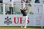 Adilson Da Silva of Brazil tees off the first hole during the 58th UBS Hong Kong Golf Open as part of the European Tour on 10 December 2016, at the Hong Kong Golf Club, Fanling, Hong Kong, China. Photo by Marcio Rodrigo Machado / Power Sport Images