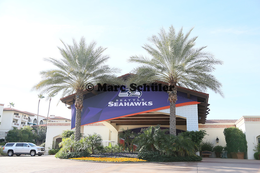 Teamhotel der Seattle Seahawks - Super Bowl XLIX Seattle Seahakws Team-PK, Arizona Grand Hotel