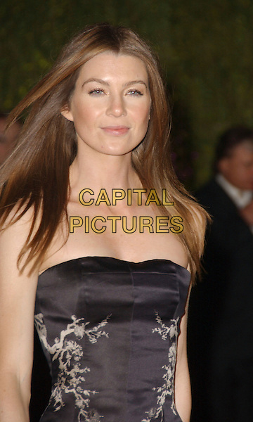 ELLEN POMPEO.The 2007 Vanity Fair Oscar Party Hosted by Graydon Carter held at Morton's, West Hollywood, California, USA, 25 February 2007..oscars  half length black strapless dress.CAP/ADM/GB.©Gary Boas/AdMedia/Capital Pictures.