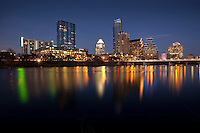 Austin Skyline Photo with reflection on Lady Bird Town Lake