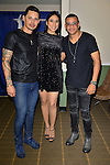 MIAMI, FL - FEBRUARY 14: Leoni Torres, Yuliet Torres, Randy Malcom Martinez of Gente de Zona backstage during a concert at James L. Knight Center on February 14, 2017 in Miami, Florida.  ( Photo by Johnny Louis / jlnphotography.com )