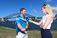 Picture by David Neilson/SWpix.com/PhotosportNZ - 13/02/2018 - Super League NSW Tour - Blues Point Reserve, Sydney, Australia - Rugby League Super in Australia Hull and Wigan - Sydney Harbour Bridge photocell - Wigan Sean O Loughlin