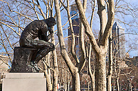 "Rodin's ""the Thinker"" sculpture, Philadelphia, Pennsylvania, USA"