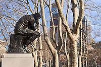 "Rodin's ""the Thinker"" sculpture, Philadelphia, Pennsylvania, USA"