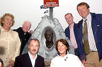 HAUGHEY BUST UNVEILING 21-08-05<br /> A bronze bust of former Taoiseach Charles Haughey was unveiled at Dingle Pier on Sunday. The bust was erected by the Dingle Fishermen and was made by sculptor Nichola Kyle. Pictured is Charlie Haughey's brother Fr Eoghan  Haughey  with Charlie's sons Sean, Ciaran and Conor, his daughter Eimear and on left is relation Mary Murphy. <br /> Picture: Eamonn Keogh (MacMonagle, Killarney)