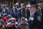 A large crowd attends the Pearl Harbor 75th Commemoration at the U.S.S. Nevada memorial at the Capitol in Carson City, Nev. on Wednesday, Dec. 7, 2016. <br />