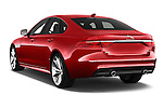 Car pictures of rear three quarter view of 2018 Jaguar XF 35t-R-Sport 4 Door Sedan Angular Rear