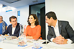 (L to R) Alberto Nunez Feijoo, president of Galicia, Isabel Diaz Ayuso, president of Region of Madrid and Juan Manuel Moreno Bonilla, president of region of Andalusia, during the General Council of Partido Popular. July 29, 2019. (ALTERPHOTOS/Francis González)