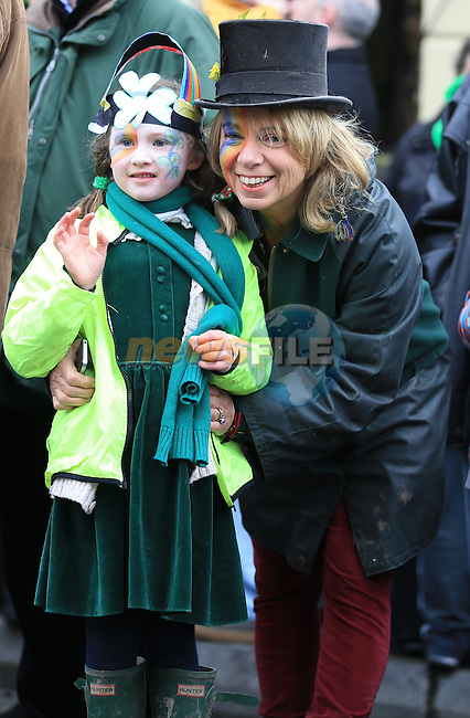 Ramona Denine and Ashling Law St Patricks Day parade in Slane..Picture: Fran Caffrey / www.newsfile.ie ..