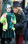 Ramona Denine and Ashling Law St Patricks Day parade in Slane..Picture: Fran Caffrey / www.newsfile.ie ..