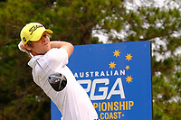 Hurly Long (GER) on the 4th tee during round 2 of the Australian PGA Championship at  RACV Royal Pines Resort, Gold Coast, Queensland, Australia. 20/12/2019.<br /> Picture TJ Caffrey / Golffile.ie<br /> <br /> All photo usage must carry mandatory copyright credit (© Golffile | TJ Caffrey)