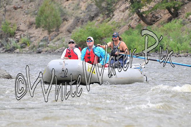 Bucking Rainbow Outfitters crashing Cable Rapid while floating the Upper Colorado River from Rancho to State Bridge, July 12, 2013, Afternoon Trip, PM, Bond, Colorado - WhiteWater-Pix   River Adventure Photography - by MADOGRAPHER Doug Mayhew