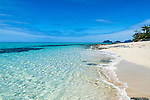 The pristine beach located near the Wedding Chapel at Mana Island Resort and Spa in the Mamanucas, Fiji