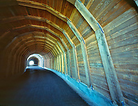 Twin Tunnels near Mosier, Oregon. Columbia River Gorge National Scenic Area.