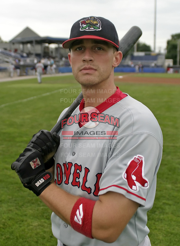 August 7, 2004:  John Otness of the Lowell Spinners, Single-A NY-Penn League affiliate of the Boston Red Sox, during a game at Dwyer Stadium in Batavia, NY.  Photo by:  Mike Janes/Four Seam Images