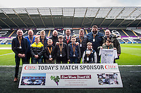 Match Sponsors ahead of the Premier League match between Swansea City and Leicester City at The Liberty Stadium, Swansea, Wales, UK. Sunday 12 February 2017