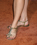 Actress Melinda Clark 's shoes at the Disney-Pixar's WALL-E Premiere on June 21, 2008 at Greek Theatre in Los Angeles, California.