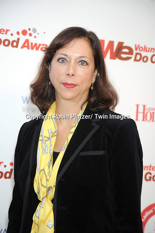 Julie Pinkwater , Publisher of Ladies' Home Journal posing for photographers at the We tv and Ladies' Home Journal's first annual WE Do Good Awards, which honors every day women who make a positive impact through volunteerism, on November 16, 2010 .at Espace in New York City.