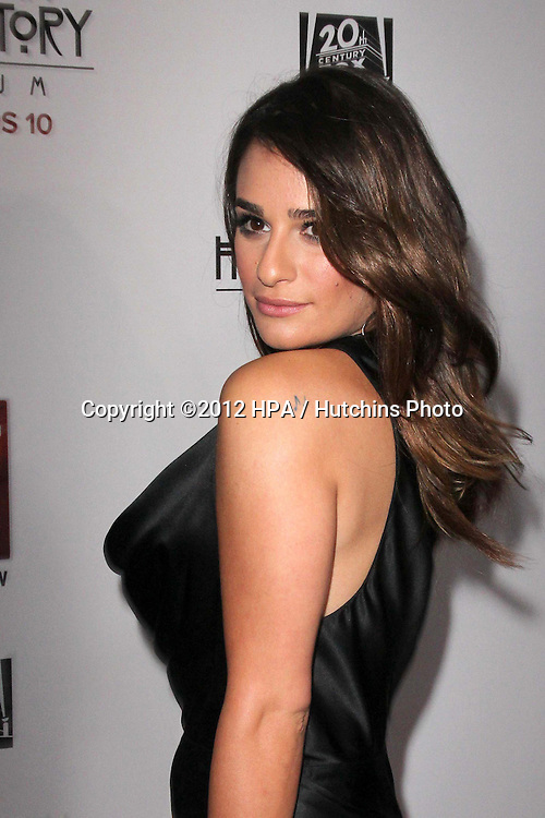 """LOS ANGELES - OCT 13:  Lea Mkichele arrives at the """"American Horror Story: Asylum"""" Premiere Screening at Paramount Theater on October 13, 2012 in Los Angeles, CA"""