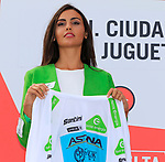 Miguel Angel Lopez Moreno (COL) Astana Pro Team retains the young riders White Jersey at the end of Stage 3 of La Vuelta 2019 running 188km from Ibi. Ciudad del Juguete to Alicante, Spain. 26th August 2019.<br /> Picture: Eoin Clarke | Cyclefile<br /> <br /> All photos usage must carry mandatory copyright credit (© Cyclefile | Eoin Clarke)