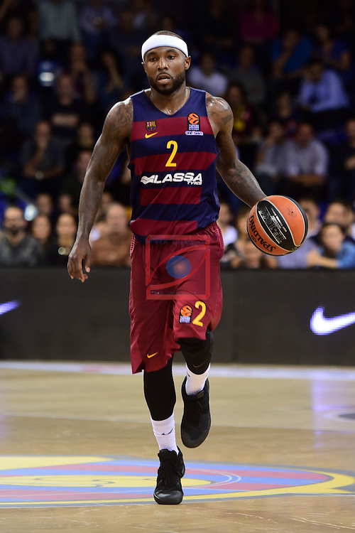Turkish Airlines Euroleague 2016/2017.<br /> Regular Season - Round 2.<br /> FC Barcelona Lassa vs Fenerbahce Istanbul: 72-73.<br /> Tyrese Rice.