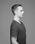Black and white studio portrait. 18 image 360 degree.
