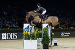 Anna-Julia Kontio of Finland riding Lorenzo competes in the Longines Grand Prix during the Longines Masters of Hong Kong at AsiaWorld-Expo on 11 February 2018, in Hong Kong, Hong Kong. Photo by Diego Gonzalez / Power Sport Images