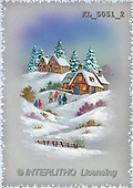 Interlitho, CHRISTMAS SANTA, SNOWMAN, nostalgic, paintings, houses, people(KL5051/2,#X#) Weihnachten, nostalgisch, Navidad, nostálgico, illustrations, pinturas