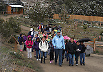 Students from Rita Cannon Elementary School brave a cold, wet day to tour the Animal Ark in north Reno, Nev, on Tuesday, May 17, 2011. The Sierra Sage Men's Golf Club is hosting a golf tournament to raise funds to bring students from Title I schools around the region to the wildlife sanctuary. .Photo by Cathleen Allison