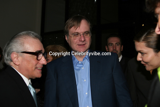"""Martin Scorsese, Paul Allen and girlfriend Laura Harring..""""The Aviator"""" Los Angeles Premiere Post Party..The Annex..Hollywood, CA, USA..Wednesday, December 1, 2004..Photo By CelebrityVibe.com..To license this image please call (212) 410 5354; or .Email: CelebrityVibe@gmail.com ; .website: www.CelebrityVibe.com"""