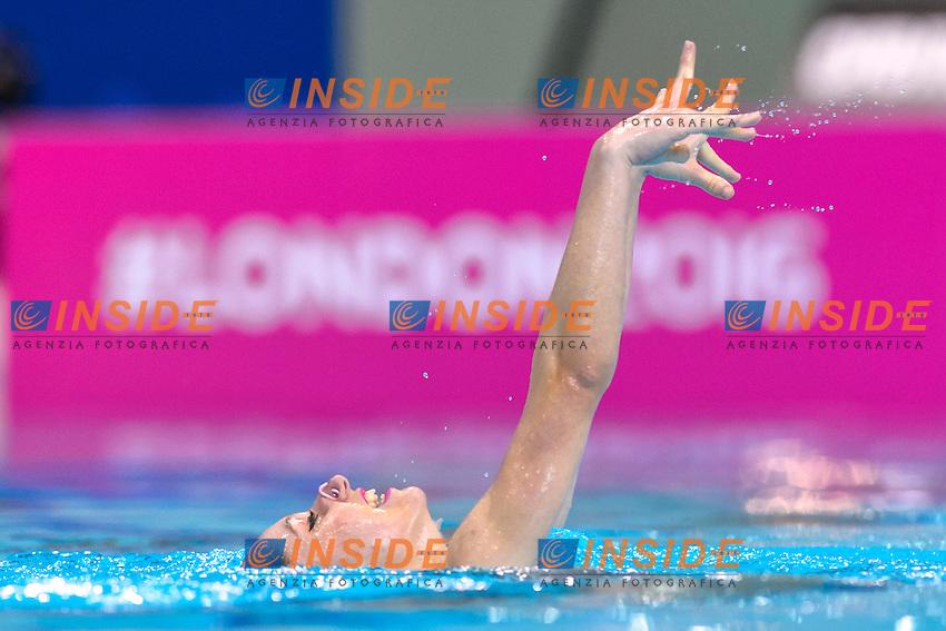 HUBAUD Estel Anais FRA France<br /> Solo Free<br /> London, Queen Elizabeth II Olympic Park Pool <br /> LEN 2016 European Aquatics Elite Championships <br /> Synchronized Swimming  <br /> Day 01 09-05-2016<br /> Photo Andrea Staccioli/Deepbluemedia/Insidefoto