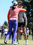 Silvia Brunotti wins the New Zealand Amateur Golf Championship final against Rose Zheng at Russley Golf Course, Christchurch, New Zealand. Sunday 5 November 2017. Photo: Simon Watts/www.bwmedia.co.nz