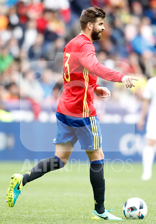 Spain's Gerard Pique during friendly match. June 1,2016.(ALTERPHOTOS/Acero)