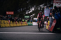Dylan Theuns (BEL/BMC) finishes a strong 2nd in the queen stage<br /> <br /> 76th Paris-Nice 2018<br /> Stage 7: Nice > Valdeblore La Colmiane (175km)