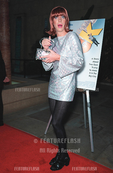 "19JUL99: Transvestite actor (and Tori Spelling look-a-like) MISS COCO PERU at premiere of his/her new movie ""Trick"" at the Egyptain Theatre, Hollywood..© Paul Smith / Featureflash"
