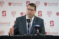 STANFORD, CA - February 4, 2017: Jerod Haase at Maples Pavilion. The Stanford Cardinal defeated Utah 81-75.