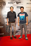 "The Spanish Singer Alberto Evangelio and Alex Gade Attends the premiere ""Tu Voz entre Otras Mil Antonio Vega"" at Proyeciones Cinema in Madrid, SpainMadrid. May 13, 2014. (ALTERPHOTOS / Nacho Lopez)"