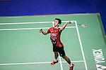 Chong Wei Feng of Malaysia competes against Sameer Verma of India during the 2016 Hong Kong Open Badminton Championships at the Hong Kong Coliseum on November 25, 2016 in Hong Kong, China. Photo by Marcio Rodrigo Machado / Power Sport Images