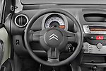 Steering wheel view of a 2009 - 2012 Citroen C1 Airplay 3-Door Hatchback.