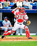 9 March 2010: Washington Nationals' catcher Wil Nieves in action during a Spring Training game against the Detroit Tigers at Space Coast Stadium in Viera, Florida. The Tigers defeated the Nationals 9-4 in Grapefruit League action. Mandatory Credit: Ed Wolfstein Photo
