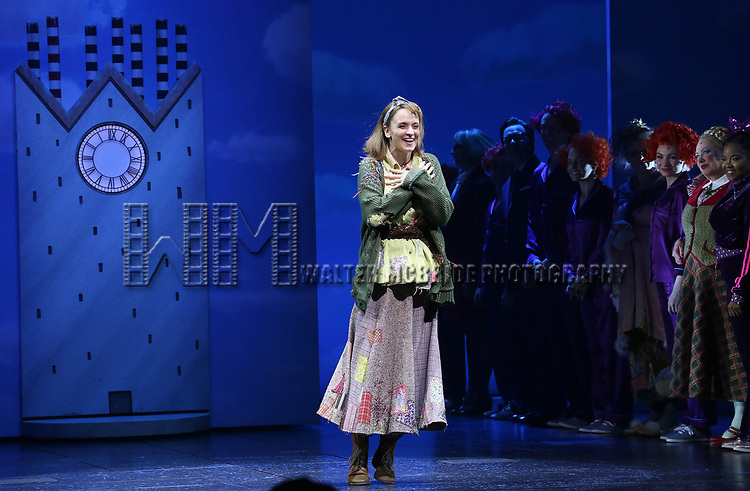 Emily Padgett during the Broadway Opening Performance Curtain Call of 'Charlie and the Chocolate Factory' at the Lunt-Fontanne Theatre on April 23, 2017 in New York City.