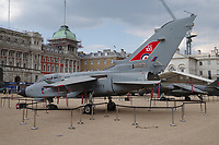 ZG773 Panavia Tornado GR4<br /> RAF100 Aircraft Tour: aircraft of the UK RAF / Royal Air Force on display on Horse Guards Parade in front of the Admiralty House, London, England on July 06, 2018.<br /> CAP/SDL<br /> &copy;Stephen Loftus/Capital Pictures
