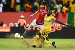 Egypt's Players compete with Malian players during the 2017 Africa Cup of Nations group D football match between Mali and Egypt in Port-Gentil on January 17, 2017. Photo by Stranger