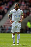 Leon Britton of Swansea City in action during the Premier League match between Sunderland and Swansea City at the Stadium of Light, Sunderland, England, UK. Saturday 13 May 2017